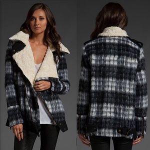Free People💕Sherpa Oversized Wool Moro Jacket S